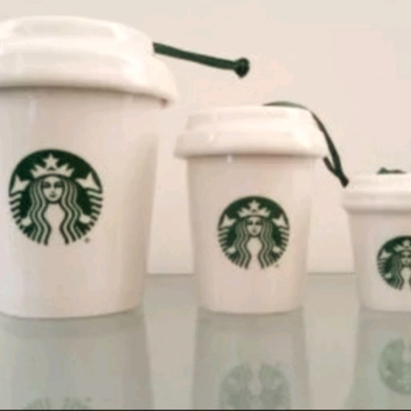 Starbucks 3 Nesting Cup Ornaments